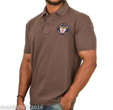 TH Whitall Brown Embroidered Polo T-Shirt