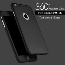 *360 Degree* Full Body Protection Front+Back Cover Case For Apple iPhone 5/5S/SE