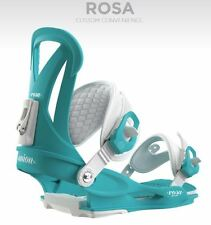 UNION ROSA SKY BLUE ATTACCHI DONNA FW 2016 M NEW BINDINGS WOMAN SNOWBOARD