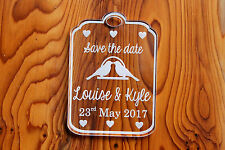 Luggage Tag Wedding Save the Dates - Wedding Favour Save Date - Clear