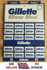 Gillette Silver Blue Blades | Double Edge Razor Shaving Blades | Genuine Premium