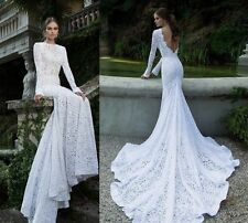 White Ivory mermaid lace wedding dresses bridal gowns size or wedding petticoat