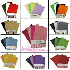 *FEUILLES FEUTRINE ASSORTIES (lot de 8) SCRAPBOOKING CARTE COUTURE BIJOUX DECO*