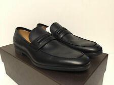 Gucci Black Leather Loafer with Signature Web Detail 100% AUTHENTIC $610 NEW