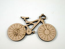 "MDF ""Mountain Bike"" Shape Approx 100mm x 60mm Embellishments"