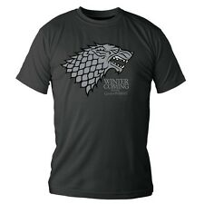 GAME OF THRONES - TRONO DI SPADE. LOGO STARK - T-SHIRT UOMO TAGLIA S