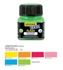20ml (12,45 €/100 ml) Stoffmalfarbe NEON, Javana textil flash, Stoffmalfarben