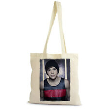 Austin Mahone H 1 Sac Tote, Shopping Bag, naturel, coton beige, cadeau