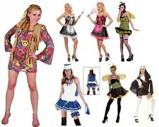 Ladies Lady Bumblebee Blue 4 Pcs Sailor Honey Bee French Maid Woodstock costumes