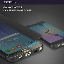 ROCK Dr.V Protective Invisible Smart Flip Cover Case For Samsung Galaxy Note 5