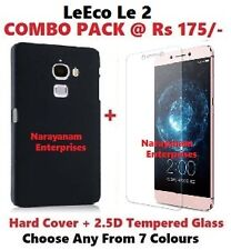 ~COMBO~ HARD BACK COVER + 2.5D TEMPERED GLASS For LeEco Le2 @ Rs 175/-