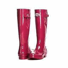 New Rockfish Tall Wellington Boots Glossy Pink