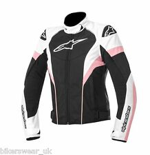Alpinestars Stella ladies women Textile T-Gp Plus r Bike jacket Black/white/pink