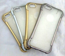 Fashion Transparent with Stylish Soft Bumper Framed Back Case iPhone 5 5s / 6 6s
