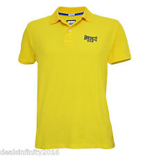Basics Sports Pique Polo Muscle Fit Yellow T-Shirt