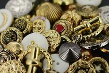 job lot gold silver tone shaped buttons mixed sizes mixed designs mixed shapes