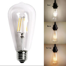Hot Vintage Retro Edison E27 2W-8W Screw LED Filament Light Bulb ST64 Globe Lamp