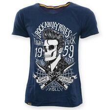 King Kerosin T-Shirt - Rockabilly Blades Blau