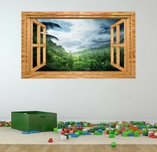 3d effekt fenster aussicht berg wald baum aufkleber wandposter vinyl ga1 173 ebay. Black Bedroom Furniture Sets. Home Design Ideas