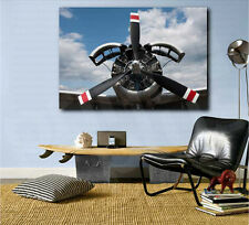 Aircraft Black and Red Propeller Art Canvas Poster Print Home Decor