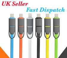2in1 MICRO USB LIGHTNING SYNC DATA CHARGE CABLE FOR IOS8 iPHONES & ANDROID