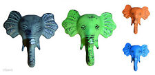 Elephant Vintage Style Distressed Metal Wall Coat Hook Hanger Shabby Chic D01