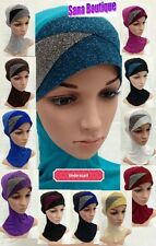 LATEST CRISS CROSS NINJA UNDER SCARF HIJAB CHEMO CAP UNDER CAP HAIR LOSS BONNET