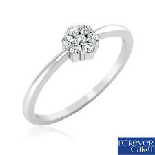 0.11ct Certified Natural White Diamond Ring 925 Sterling Silver Ring Jewellery