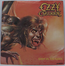 "OZZY OSBOURNE : SHOT IN THE DARK 7"" Vinyl Single 45rpm Picture Sleeve Excellent"