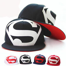 Superman Baseball Cap Hip Hop Peaked Hat Summer Adjustable Snapback Flat Sun Hat