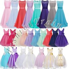 Formal Flower Girl Kid Wedding Bridesmaid Party Pageant Princess Ball Gown Dress
