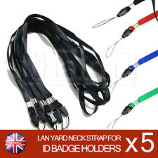 Lanyards Neck Strap For ID Pass Card Badge Gym Key Multicolour Mobile Phone USB