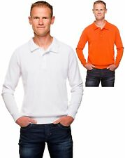 Ugholin - Pull Col Polo Coton Mercerisé Manches Longues Homme - Neuf