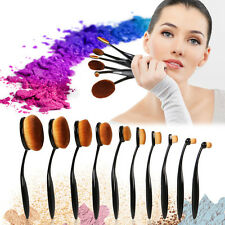 10Tlg Pro Make Up Oval Pinsel Foundation Puderpinsel Kosmetik Brush Zahnbürste