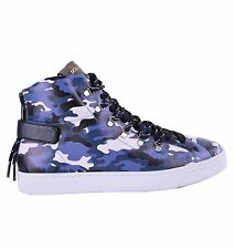 DOLCE & GABBANA High-Top Sneakers Camouflage Print Blau Made in Italy 04646