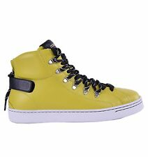 DOLCE & GABBANA High-Top Zip-Up Sneakers Gelb Made in Italy Sneaker Yellow 04645