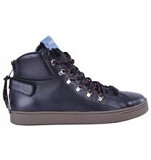 DOLCE & GABBANA High-Top Zip-Up Sneakers Schwarz Made in Italy Black 04642