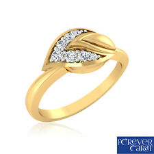 0.11 Ct Certified Natural Diamond Daisy Drop Ring 14K Hallmarked Gold Jewellery
