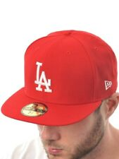New Era Fitted Cap MLB Basic 59Fifty LA Dodgers Scarlet-weiß