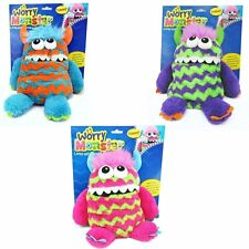 """KIDS CHILDRENS 9"""" SOFT PLUSH WORRY MONSTER TEDDY EATS WORRY NOTES FEED IT"""