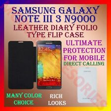 ACM-LEATHER DIARY FOLIO FLIP FLAP CASE for SAMSUNG GALAXY NOTE III 3 N9000 COVER