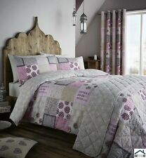 CATHERINE LANSFIELD FLORAL PATCHWORK DUVET QUILT COVER PILLOWCASE BEDDING SET