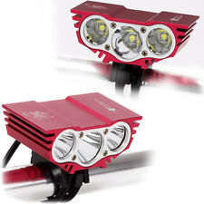SolarStorm X3 3 CREE U2 LED Bicicletta Luce 6000LM Torcia da fronte torcia