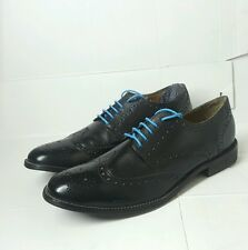 Ben Sherman Full Brogues Black Color UK10,12 Leather Upper Sole w/o box Authentc