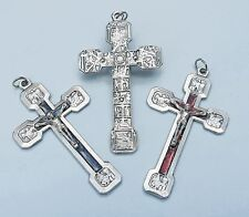 Italian Stations of the Cross Enamelled Crucifix Cross - Choice of colour