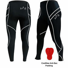 Mens Cycling Tights Trousers Tights Leggings Cold Weather Pant  ANTI-BAC PAD
