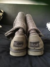 Ugg Boots Grey Knit Size 8.5