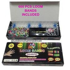 Assorted Colours RAINBOW LOOM RUBBER BANDS BRACELET MAKING KIT TWISTZ BANDZ NEW