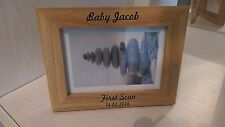personalised photo frame 6x4 5x7 new born baby engraved gift idea scan picture