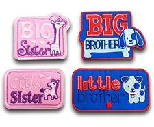 Big Little Brother Sister Iron Sew On Embroidered Patch Patches Motif Applique